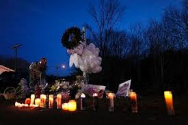 Candles lit in memory of those who died in the Sandy Hook murders