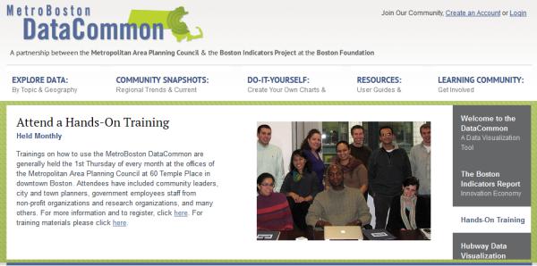 Metro Boston Data Common training